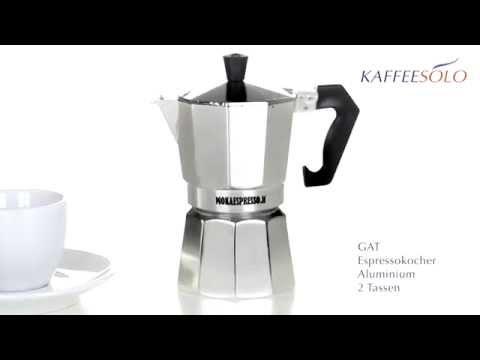 GAT Espressokocher Aluminium 2 Tassen