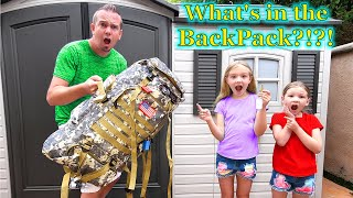Opening Abandoned Backpack Found in Tiny House!!!
