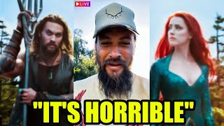 """""""It's Horrible"""" - Jason Momoa SPEAKS OUT  on  Working With Amber Heard"""