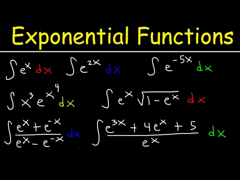 Integrating Exponential Functions By Substitution - Antiderivatives - Calculus