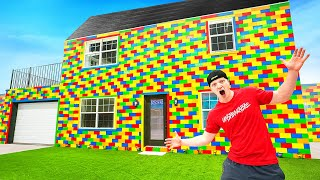 I Built A REAL Lego House! LIFE SIZE