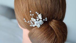 How To Make Bridal Hair Pin Hair Vine Bead Stone Hair Accessory Handmade เครื่องประดับผมเจ้าสาว EP.2