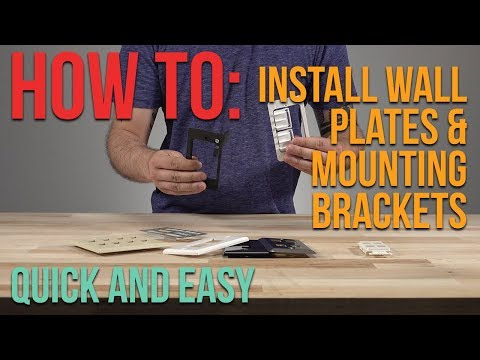 How To: Install a Wall Frame Mounting Bracket and Wall Plate