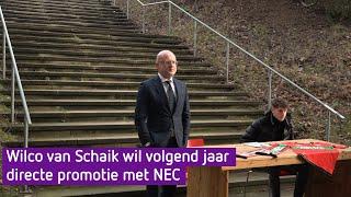 Wilco van Schaik wil volgend jaar directe promotie met NEC