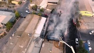 תיעוד של שריפה בדימונה מרחפן Phantom 4
