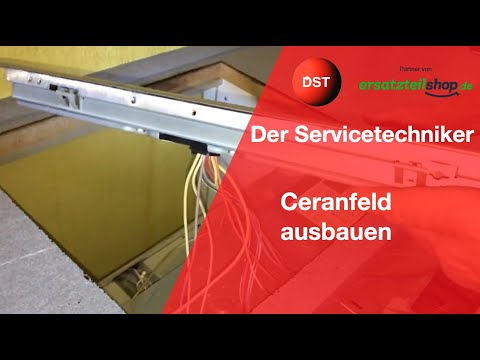 Elektroherd Ceranfeld ausbauen