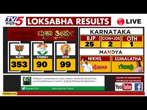 Election Results 2019 | LIVE | Karnataka | Mandya | India #electionresult2019