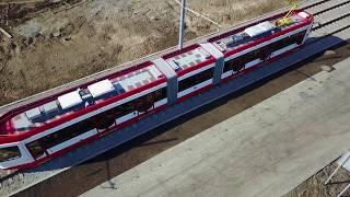 Трамвайные пути до Самара Арена 5.05.18 (4K)