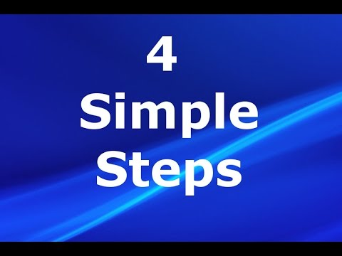 Video 4 Simple Steps to Cure Chronic Anxiety