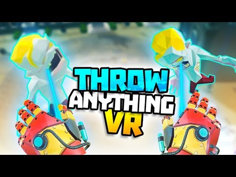 USING LIGHTNING GLOVES ON THE BOSS! -  Throw Anything VR Gameplay - VR HTC Vive Pro Gameplay