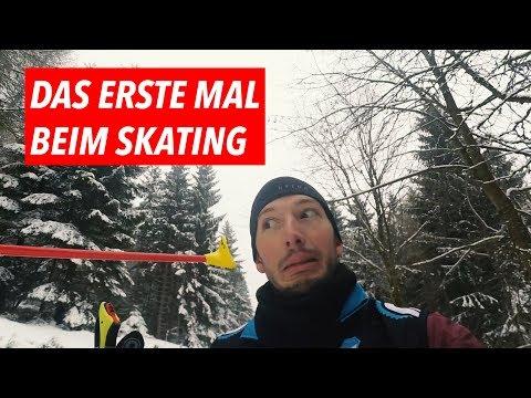 Das erste Mal beim Skating: Langlaufen für Anfänger. 😂