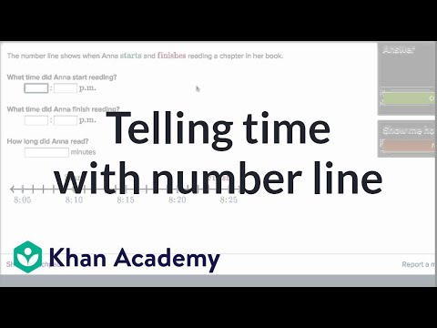 Telling time problems with number line