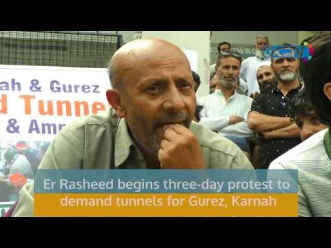 Er Rasheed begins three-day protest to demand tunnels for Gurez, Karnah