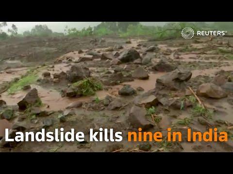 Landslide kills nine in northern Indian state