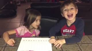 Kindergarten math game with writing numbers