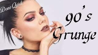 Done Quick: How To Do A 90´s Inspired Grunge Look | Linda Hallberg Tutorial