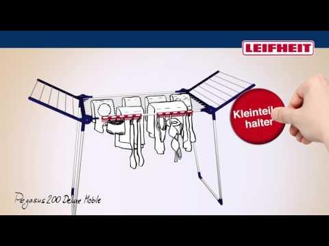 Leifheit Standtrockner Pegasus 200 Solid Deluxe Mobile (German)