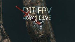 DJI FPV | DIVING A 400M BUILDING