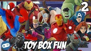 Avengers Infinity War Disney Infinity Toy Box Fun Gameplay Part 2
