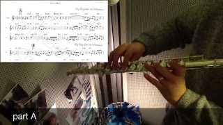 somewhere over the rainbow(chet baker) - jazz flute cover with score