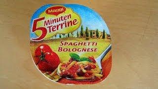 Instant Spaghetti Bolognese - Maggi 5 Minuten Terrine