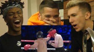 Reacting to MY FIGHT w/ KSI, Lachlan, Idiot Miniminter, Randolph  Vikkstar