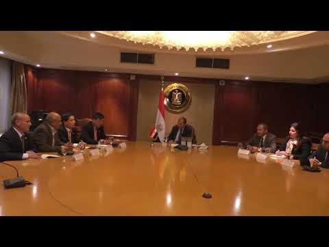 اجتماع الوزير/عمرو نصار مع الدكتور هي ببوم لي الرئيس الشرفي لجمعية التنمية الكورية المصرية KEDA