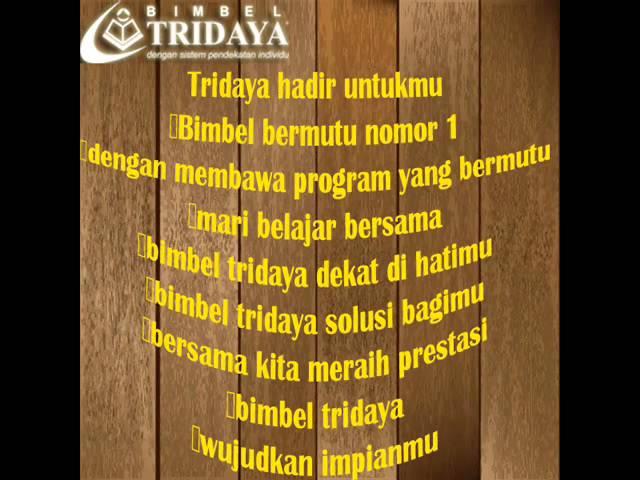 Tridaya Jingle Text