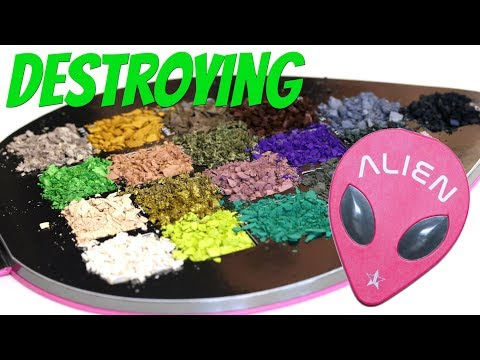 Weighing and Destroying the Jeffree Star Cosmetics Alien Palette | THE MAKEUP BREAKUP