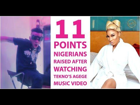 Bikini-Clad, Dead Lyrics, Fire  & More - Nigerians React To Tekno's AgegeMusic Video