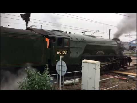 60103 'Flying Scotsman' fails at Peterborough with hot box 1…