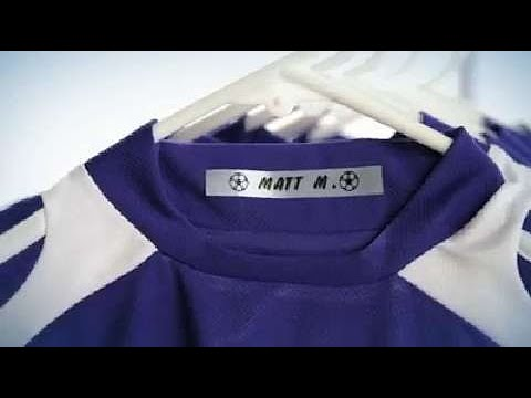 ERS Solutions Iron-On Name Identification Tape label Printing video thumbnail