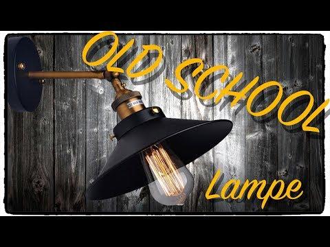 INDUSTRIE LAMPE  - OLD SCHOOL LOOK - Innen Beleuchtung  Test / Review Deutsch
