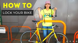 How To Lock Your Bike - The RIGHT Way!