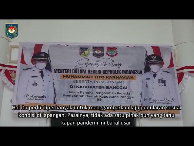 Kunjungan Menteri Dalam Negeri  (Kemendagri RI) Bersama Rombongan di Kabupaten Banggai