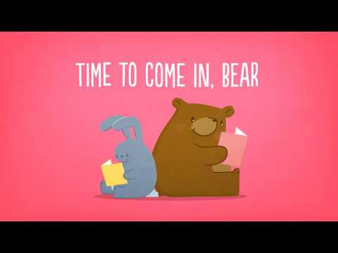 Screenshot of video: Time to Come in Bear: Children's Story about Social distancing