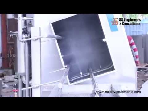 Crate Washer Slanting-Conveyor Type