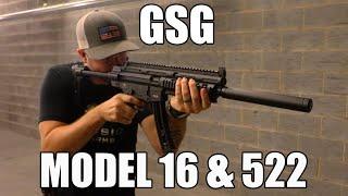 ATI GSG 522-SD LTW 22LR Semi Auto Tactical Rifle, 22rd Mag - Long Guns