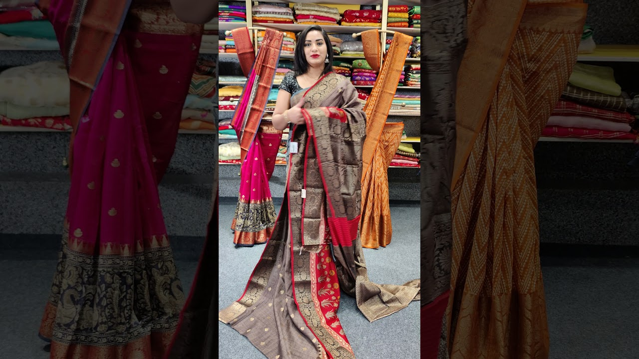 """<p style=""""color: red"""">Video : </p>BEAUTIFUL AJRAKH PRINTED FANCY SAREES FROM MUGDHA FOR ORDERS 9949047889 2021-09-16"""