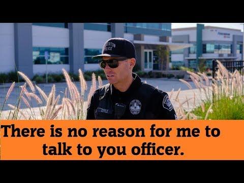 Cop has a listening problem