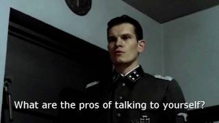 Pros and cons with nonexistent Hitler: Talking to yourself