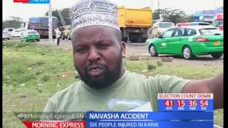 Six people injured on a road accident along Nakuru-Nairobi highway