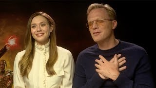 Elizabeth Olsen Singing Spice Girls 'Two Become One' To Paul Bettany | Funny Avengers Interview