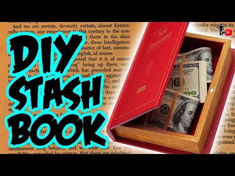 DIY SECRET STASH BOOK - Man Vs Youtube #16 - (CONTEST CLOSED)