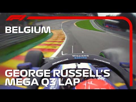 3位に入ったウィリアムズのジョージ・ラッセルのオンボード映像 F1 第12戦ベルギーGP