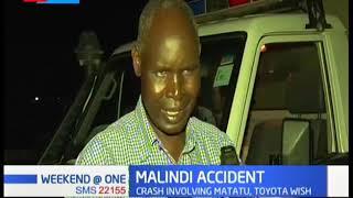Malindi Accident: 3 people killed, 20 injured, crash involving matatu and toyota wish