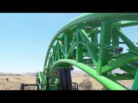 Green Lantern Painful Roller Coaster POV Six Flags Magic Mountain