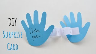 Fathers Day Craft Ideas For Kids | Handprint Fathers Day Card | Fathers Day Craft That Kids Can Make