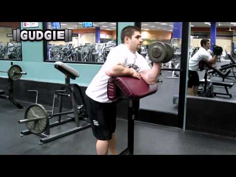 Dumbbell standing preacher curl single sided, isolated