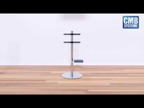 Edelstahl TV Ständer mit Schwenkfunktion für Bildschirme bis 65 Zoll | CMB-Systeme